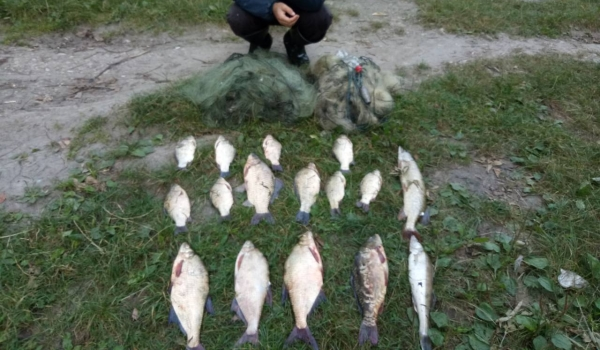 Вилучено 90 кг водних біоресурсів, - Тернопільський рибоохоронний патруль
