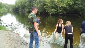 До водойм Сумської області випустили 30 тис. екз. стерляді