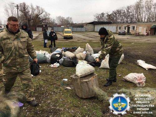 Дніпропетровський рибоохоронний патруль знищив понад 10 км сіток