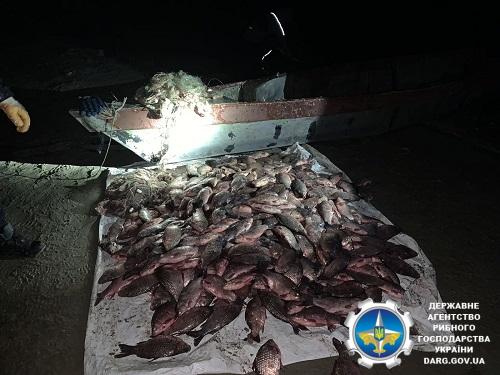 У Кременчуцькому водосховищі порушник незаконно виловив 369 кг риби на понад 19 тис. грн збитків, - рибоохоронний патруль Черкащини